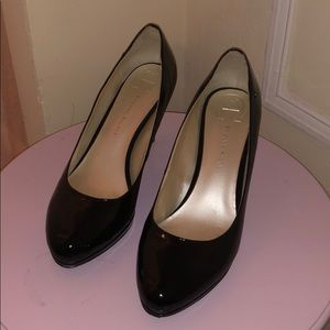 Etienne Aigner Black Patent Leather Pumps